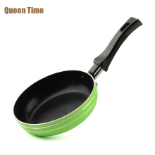QueenTime Non-Stick 5.5 inch Egg Frying Pan Aluminum Griddles & Grill Pans 14cm Diameter Kitchen Panela Fryer For Gas Cooker(China)