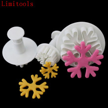 Halloween Christmas Snowflake Plunger Mold Cake Decorating Tool Cake Cookie Cutters Fondant Cutter xmas Decoration(China)