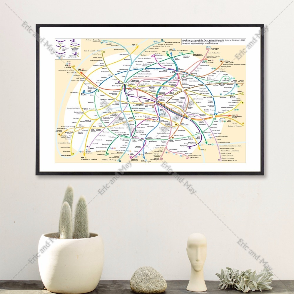 world subway metro map canvas art print painting poster wall pictures for room decoration home decor - Metro Frames