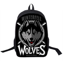 Cool Valar Morghulis Backpack School Backpack Womens Mens Night's Watch Wolves Daily Backpack Laptop Backpack Teens School Bag