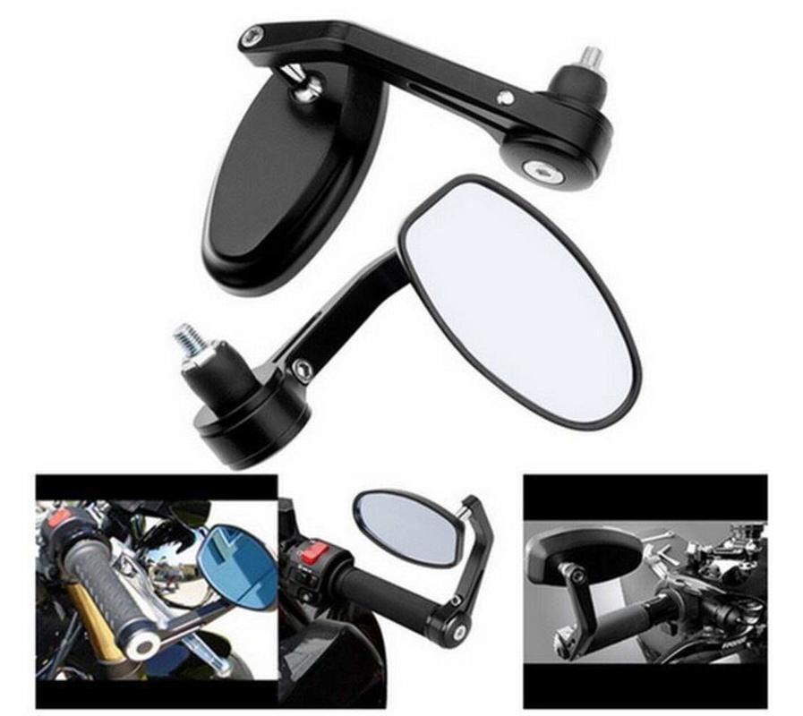 Black 7//8 22mm Universal Round CNC Motorcycle Rearview Bar End Mirrors For Harley Davidson Honda Kawasaki Suzuki Yamaha