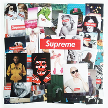 Hot 57pcs/set Supreme Stickers Fashion brand sexy high quality waterproof PVC For Suitcase Refrigerator skateboard laptop