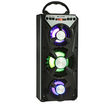 Redmaine MS - 221BT Multifunctional Portable Bluetooth AUX Speaker with BT/FM Radio Mode with LED Sleek Colorful Backlight(China)