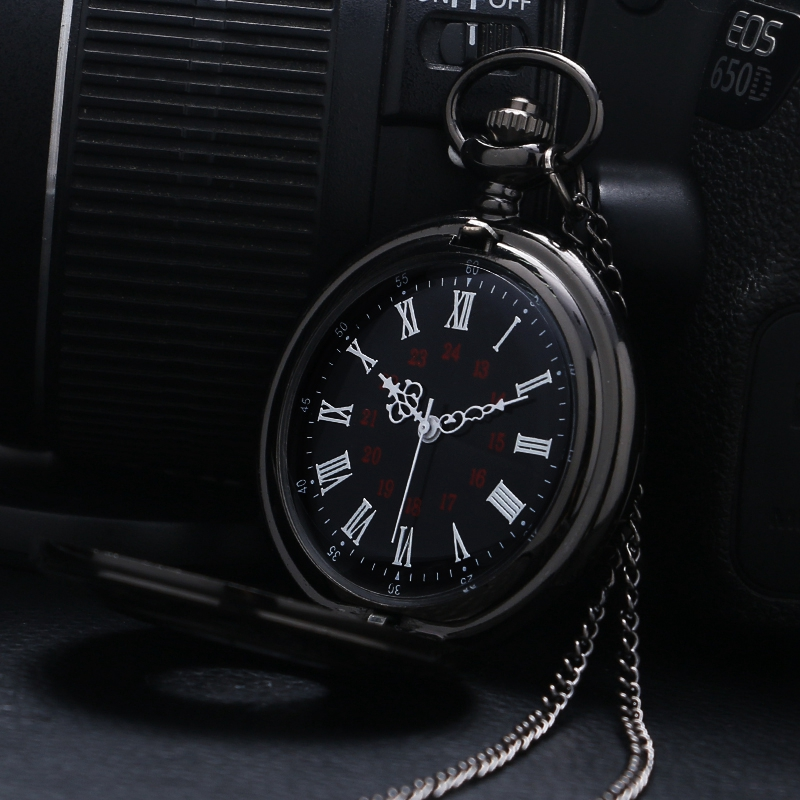 Retro Roman Number Quartz Steampunk Pocket Watch Fashion Necklace Carving Engraved Fob Clock Man Women Pendant Souvenir Top Gift 2018 (4)