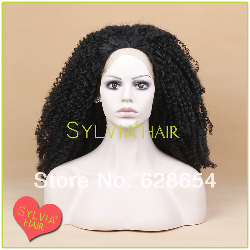 Hot selling #1b afro kinky curly synthetic lace front wigs for african americans black women<br><br>Aliexpress