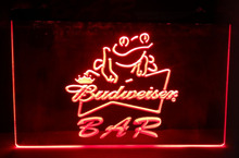 Budweiser Frog Bar Beer NEW carving signs Bar LED Neon Sign