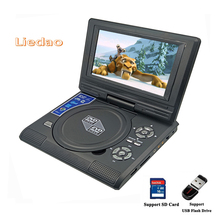 Liedao 7.8inch Portable DVD Player Digital Multimedia Rechargerable Player With Game FM Radio TV AV Monitor Card Reader U Drive(China)