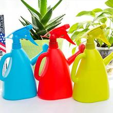 400ML Portable Solid Color Flower Plant Hand Trigger Water Spray Plastic Pot Bottle Nozzle Watering Kettle for Garden