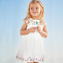 new arrival kids dresses embroidery floral baby girls vest dress toddler princess party dress children clothing cotton dress