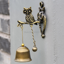 Small Owl Wind Chimes Retro Metal Wind Bells Hanging Decorations Animal Hanging Decor DoorBell Ornament Children Gifts 11cm(China)