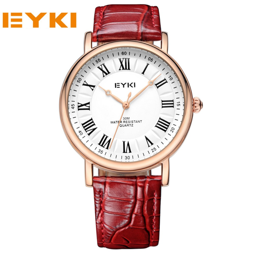 EYKI Luxury Brand Women Watches Quartz Leather Strap Wristwatches Casual Dress Lovers Watches Women Clock Reloj<br><br>Aliexpress