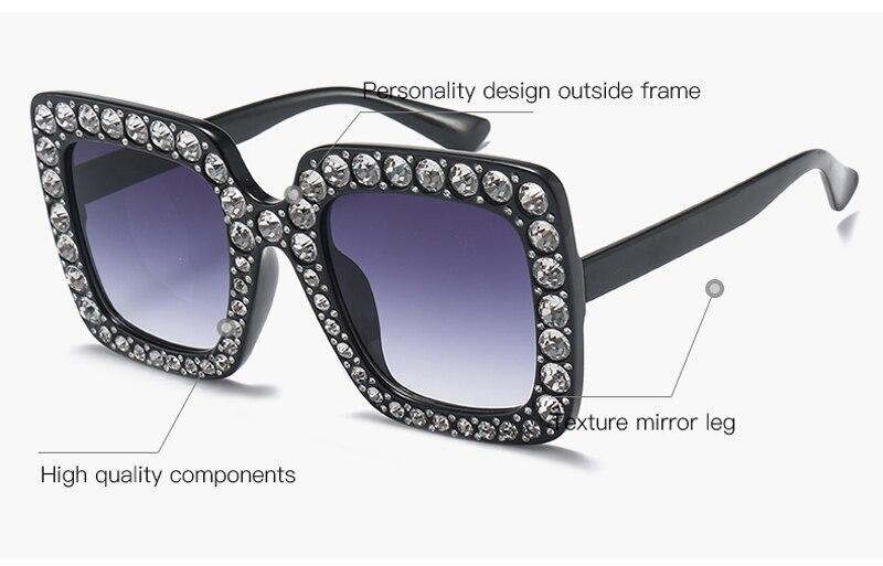 rhinestone sun glasses for women luxury brand 7080 details (1)