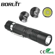 Boruit 1000LM XM-L2 U2 LED Tactical Flashlight 5-mode USB Micro-USB Rechargeable Portable Torch Emergency Light by 18650 Battery(China)