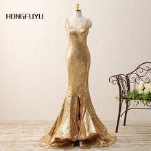 Fashion Mermaid Sweetheart Neck Sequined Long Prom Dresses Spaghetti Straps  Sleeveless Floor Length Prom Dress Cheap Party Dress b46b6ce08cc6