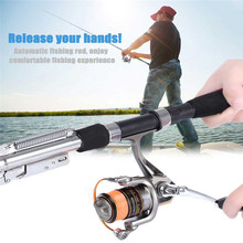 1.8m 2.1m 2.4m 2.7m Automatic Fishing Rod (Without Reel) Sea River Lake Stainless Steel Automatic Fishing Rod Fish Pole