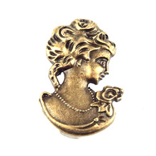 50Pcs/Lot beauty head zinc alloy beads big hole owl shaped diy beads jewelry making material finding supplier in China 2016(China)