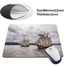 sailing ships on the river Rubber Soft aming Mouse ames Black Mouse pad