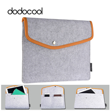 "dodocool 9.7"" Tablet Case Felt Envelope Cover Sleeve Carrying Case Protective Bag for Apple 9.7-inch iPad Pro / iPad Air 2 / 1(China)"
