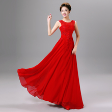A-line Elegant Long Wedding Party Dress robe de soiree Maid of Honor Gown Cheap Bridesmaid Dresses