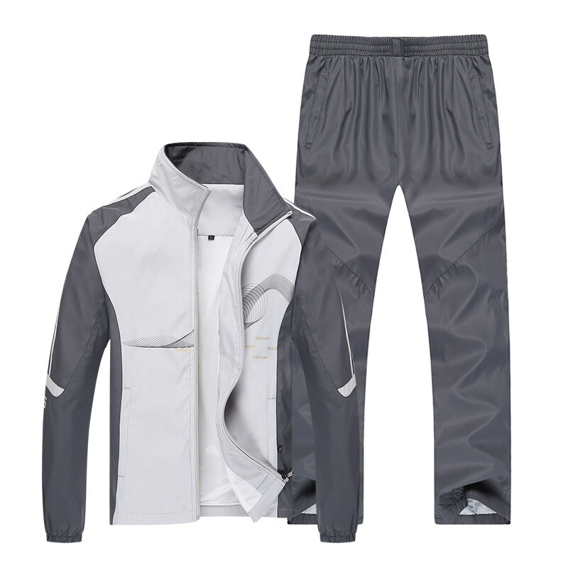 Men Sport Suits Sportswear Set New Style Polyester Fabric Fitness Training Tracksuit Zip Pocket Running Sets Mens Jogging Suit<br>