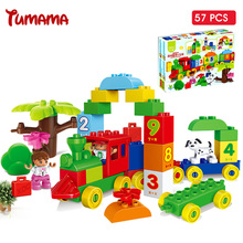Big Size Building Blocks Number Train Bricks Compatible Legoed Duplo 5DIY Educational Toys Children Gift - Tumama Official Store store