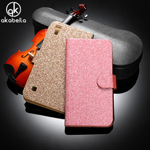 AKABEILA Flip PU Leather Phone Case For LG X Style K200DS X Skin F740 F740L/LG Tribute HD/LG Volt 3 Housing Bling Bag Cover Case
