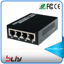 4 rj45 port fiber optic ethernet switch 100Mbps 1 dual fiber port to internet switch fibre channel network switch single mode(China)