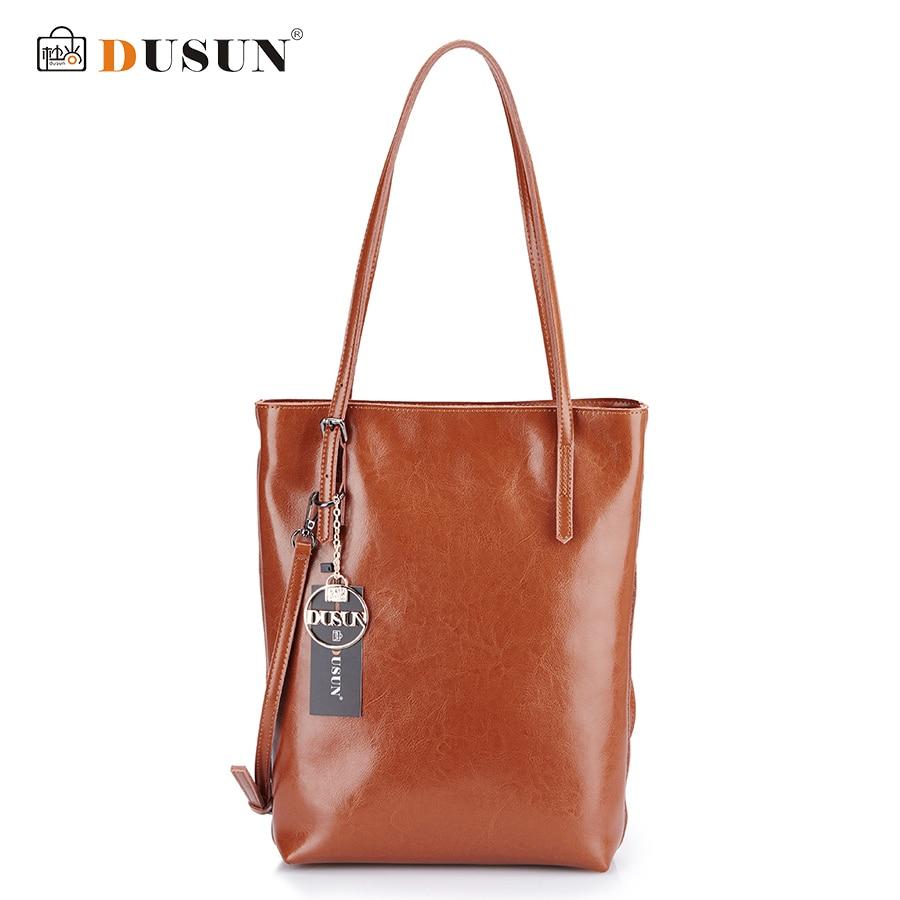 DUSUN Genuine Leather Handbags Women Bag Retro Shoulder Bag 2016 New Womens Large Tote Bags Ladies Casual Design Handbags<br>