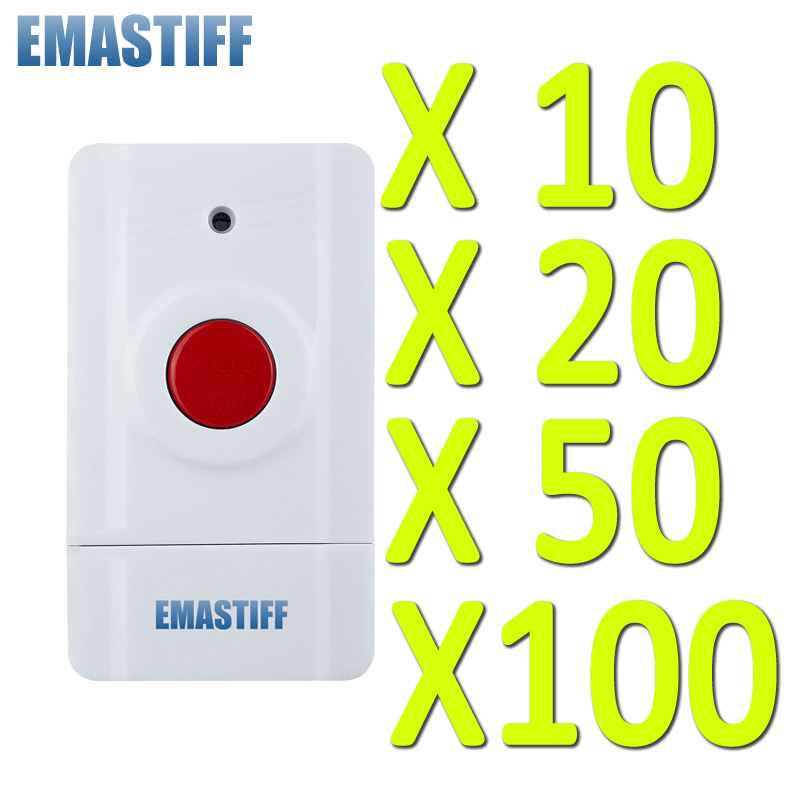 Free Shipping! 10/20/50/100 pcs wholesale Wireless SOS Button for Our Home Alarm Home Security System 433Mhz Panic Button(China)