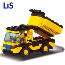 Lis Building Block Set SLuBan M38-B9500 engineering/dump truck 94PCS Model Educational building blocks Compatible With kids Toy(China)