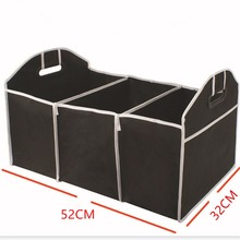 Foldable Car Organizer Storage Box Auto Trunk Bag Durable Collapsible Cargo Storage Container Insulation Bag For Car SUV Truck(China)