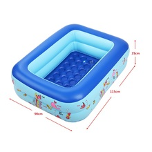 High Quality 115X90X35cm Inflatable Baby Swimming Pool Piscina Eco-friendly PVC Portable Children Basin Bath Tub Kids Playground