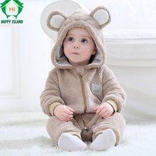 HAPPY ISLAND Newborn Baby Clothes Rabbit Lovely Onesie Baby Girl Boy Rompers jumpsuit Autumn Fashion Baby Wear Kid Climb Clothes