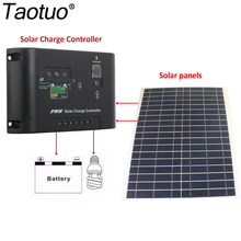 Taotuo Power 12V 20W Polycrystalline Saving Semi-flexible Solar Panels + 12V/24V 10A 5V DC Top Solar Panel Charge Controller