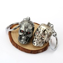 Movie Terminator Keychain Personalized 3D Skull Head Shape 2 Colors Car Key Chain Ring Holder Men Women Gift Chaveiro Accessory(China)