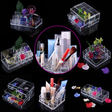 New Clear Acrylic Makeup Organizer Drawer Jewelry Cosmetic Organizer Drawer Box Case Stand Home Storage Boxes Make up Organizer(China)