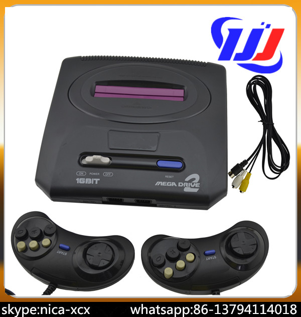 New Arrival!!!!PAL version EU plug Game Consoles for Sega MD2 MD 2 TV Video Game Console Classic Card 16 Bit<br>