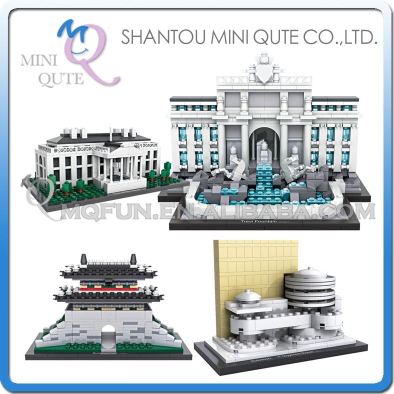 Mini Qute LOZ world architecture famouse Solomon R.Guggenheim Lincoln Memorial Sungnyemun DIY building blocks educational toy<br><br>Aliexpress