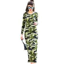 Buy Camouflage printed split long dress 2017 spring autumn fashion hoodie dresses long sleeve pullover sweatshirt sexy dress shirts for $19.99 in AliExpress store