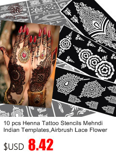 50pcs/lot Black Arabic Tattoos Women Arm Designs,Beautiful Flower Butterfly Waterproof Fake Temporary Tattoo Stickers Wholesale 36