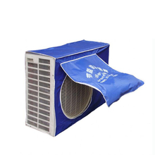 Outdoor Working Air Conditioner Weather Wrap Cover Enclosure Hood Wall Mounted Block Dust Rain Snow PVC Case Silver Gray Blue(China)