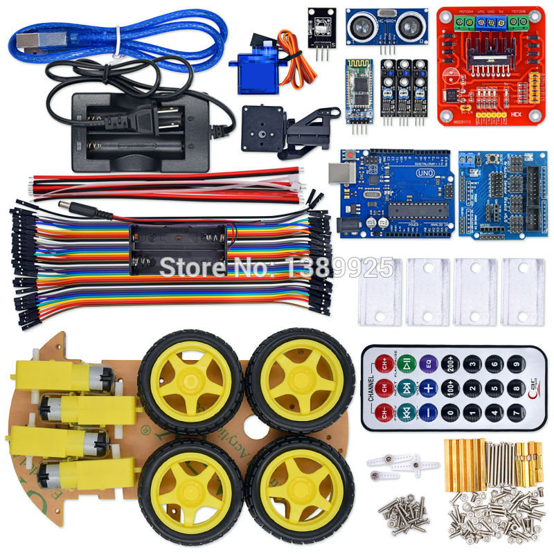 HTB1CHxrk.F7MKJjSZFLq6AMBVXaB - UNO Robot Car Kit Bluetooth Chassis suit Tracking Compatible UNO R3 DIY RC Electronic toy robot