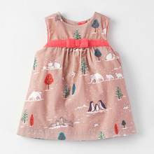new brand bowknot floral Toddler kids vest dress corduroy cute baby girls sleeveless party vestidos children clothing dresses(China)