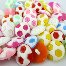 "50Pcs Mixed Football Buttons Nylon Buttons For Clothing Accessories Apparel Sewing Crafts 16.0mm( 5/8"")Dia"