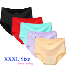 Buy XXXL Women Underwear Solid Sexy Lingerie Panties Women String Thongs Seamless Panties G-String Briefs Underwear Factory Ship