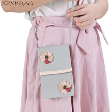 XZXBBAG Women Cute Floral Messenger Bags Girl Cell Phone Pocket Pouch Students Children Crossbody Case Girl Mini Shoulder Bags(China)