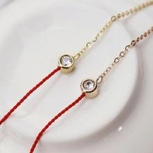 European red  Bracelets hand made Color rope Single drilling  wristband Bangles for Women