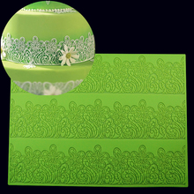39*29CM BIG size Flower Cake Mold Decorating Fondant Silicone Mold Sugar Lace Mat Embossing Mold