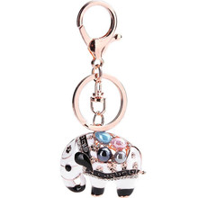 Zinc Alloy Cartoon Elephant Key Chain For Women Bag Accessories Hangbag Keyring Fashion Jewelry 2016 News Keychain Wholesale(China)