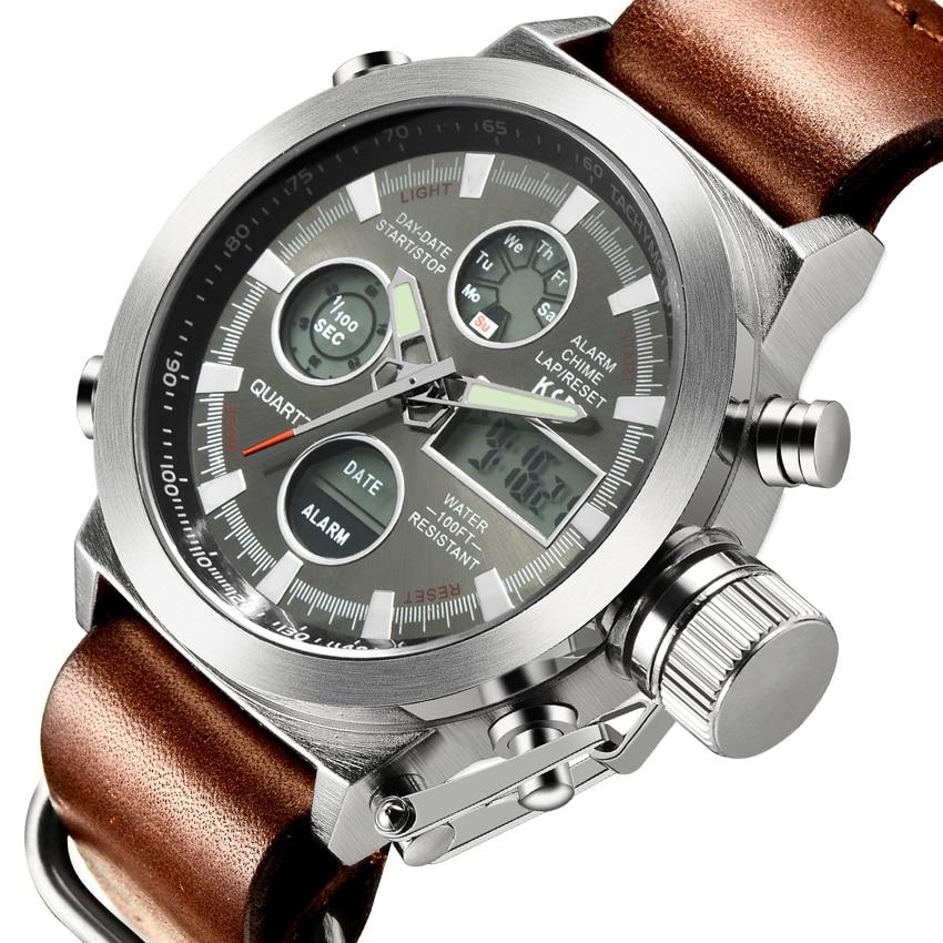 Mens Quartz Hour Analog Digital LED Sports Watch Men Army Military Wrist Watch Relogio Masculino Luxury Brand Men Watches<br><br>Aliexpress
